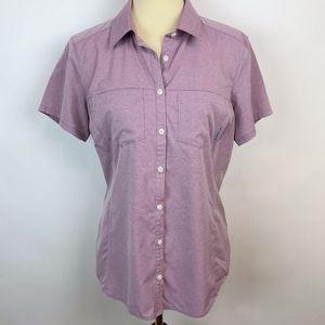 Columbia Omni Shade Button Sun Shirt size Large